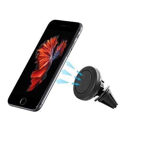 Ukelove Supporto Magnetico Auto universale, Car Magnetic Air Vent Mount Holder, Porta Magnetico Auto, 360 Gradi di Rotazione per iPhone 6s plus/ 6s/ 6 plus/ 6/ 5/ 5s/ 5c, Smartphone Samsung, GPS, MP3 Player, ecc. (Nero)