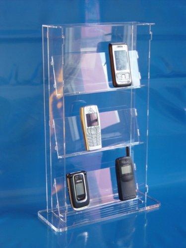 Standvitrine aus Acrylglas für 12 Handys