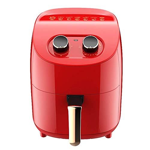 Friteuse Air, Airfryer pour la maison Utilisez la maison Smart Home, la minuterie et la température ambiante en bonne santé pour la cuisson en bonne santé ou à faible graisse, 1000 W, rouge, E025NT
