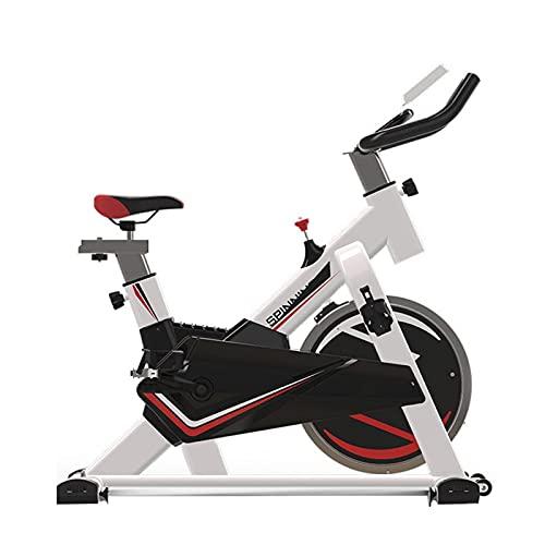 Spinning Bike Bicicleta Estática para Gimnasio En Casa, Bicicleta De Ciclismo Estacionaria para Interiores con Resistencia Ajustable, con Pedales Antideslizantes Y Cubierta Protectora del Volante