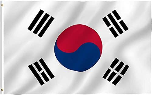 特大150×90cm韓国の旗,한국 국기,Korean flag,大韓民国国旗 太極旗 柔らかくて快適スポーツ 観戦 応援 フラッグ オリンピック 祝日 新年 運動会 代表応援用 市民の日 スポーツ 応援グッズ ワールドカップ 国旗 (Korea)