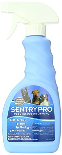 SENTRYPRO Flea and Tick Spray for Dogs and Cats, 16 oz