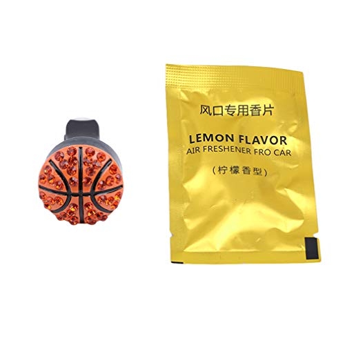 TraveT Ball Shaped Smell Fresh Car Air Conditioning Vent Clip Perfume Air Freshener Fragrance Scent The Best Gift for Driver,Basketball