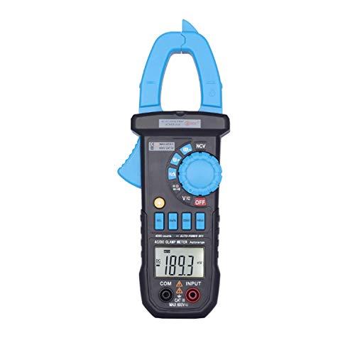 ZUQIEE pinza amperimétrica digital, Rango automático metro de la abrazadera de coches ACM03Plus amperímetro del voltímetro del multímetro digital con retroiluminación Resistencia Prueba de continuidad