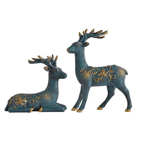 Sculptuur standbeeld herten hars kunst decoratie binnen TV kabinet wijnkast decoratie ambachten praktische sturen Gui Honing bruiloft ambachten ornamenten beeldjes