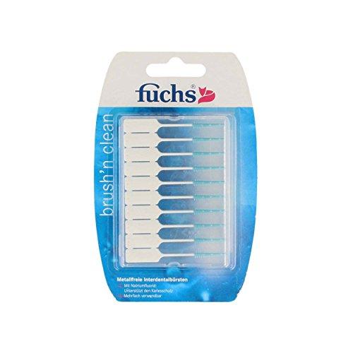 Fuchs Brush n Clean Interdentalbürsten 20 Stück, 10er Pack (10 x 20 Stück) | metallfrei | mit Fluorid
