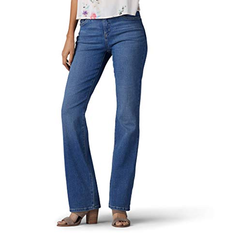 Lee Women's Flex Motion Regular Fit Bootcut Jean, Majestic, 12