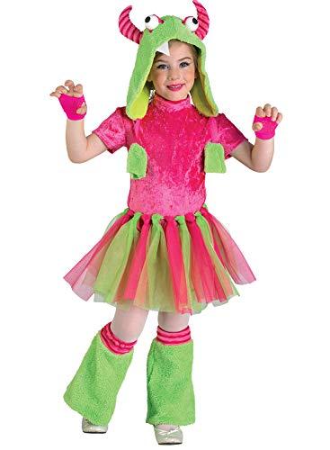 Clown Republic - Disfraz de monstruo para niña (39808/08), multicolor