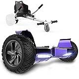 GeekMe Patinete Eléctrico Todo Terreno de 8,5'' Scooter Equilibrado con Potente Motor Bluetooth + Hoverkart Accesorio para Patinete Eléctrico