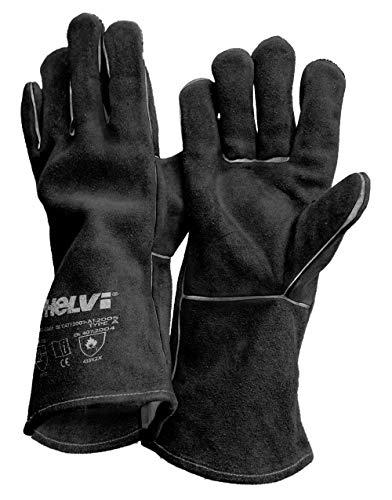 HELVI 21905177 - Guantes para soldadura, color negro, talla única