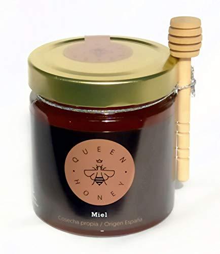 Queen Honey Miel Pura de Abeja Gourmet. Producida en España. 100{f3a34c89fbbee506e33d0d62a39006d3414867fc562ea75f02acf8f027380d99} Natural, Sin Pasteurizar ni Aditivos. Directamente del Apicultor. Artesana (Mil Flores)
