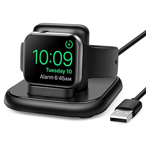 Charging Stand for Apple Watch with Magnetic Charging Cable Wireless Portable Charging Cord Support Nightstand Mode...