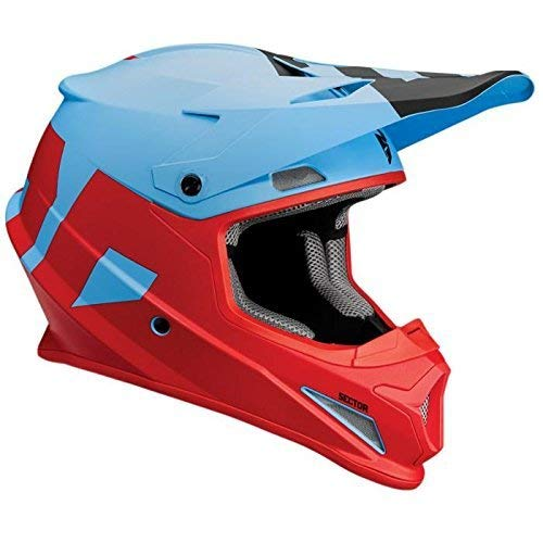 Thor MX Casco Sector nivel – blue-red, Red, Blue, XXL (63-64 cm)