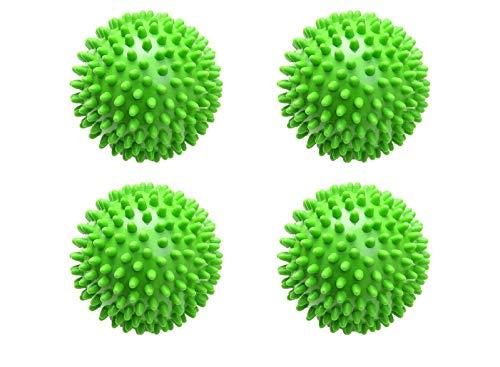 WIFUN 4 Stück grüne Trocknerbälle, wiederverwendbare Waschbälle, Wäsche, Trocknerbälle für Trockner, Waschmaschine Wäsche