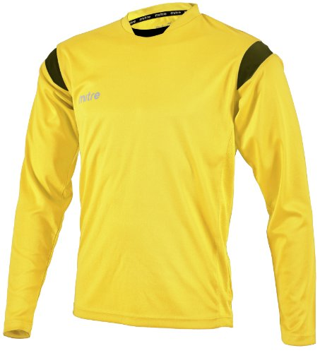 Mitre  - Camiseta, Color Amarillo/Negro, Talla XL/46-48 Inch