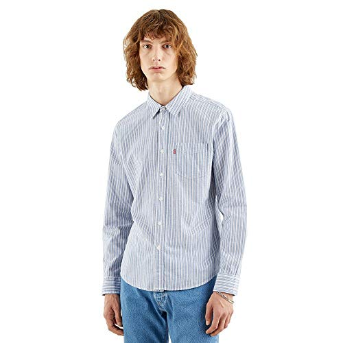 Levi's Sunset 1 Pkt Slim Camisa, William Dutch Blue, S para Hombre