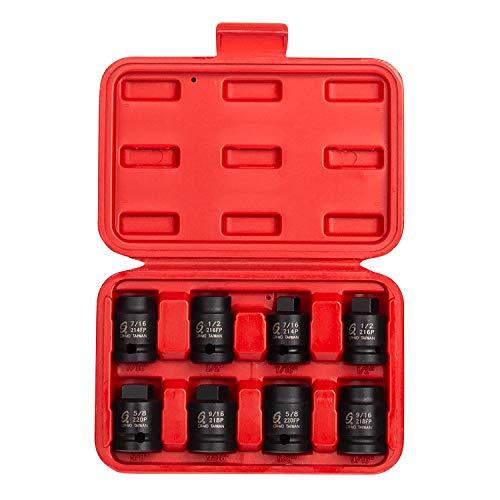 sunex socket wrenches drive socket sets Sunex 2841 1/2-Inch Drive Pipe Plug Socket Set, Male/Female set, Cr-Mo, 7/16-Inch - 5/8-Inch Male, 7/16-Inch - 5/8-Inch Female, 8-Piece