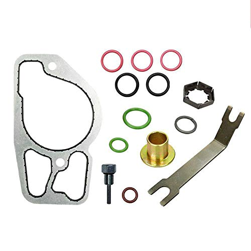 HPOP High Pressure Oil Pump Kit with Base Gasket Replacement for 1994.5-2003 Ford Powerstroke Diesel Engine 7.3L F250 F350 F450 F550 E250 E350 E450 Excursion (Pack of 14 Set)