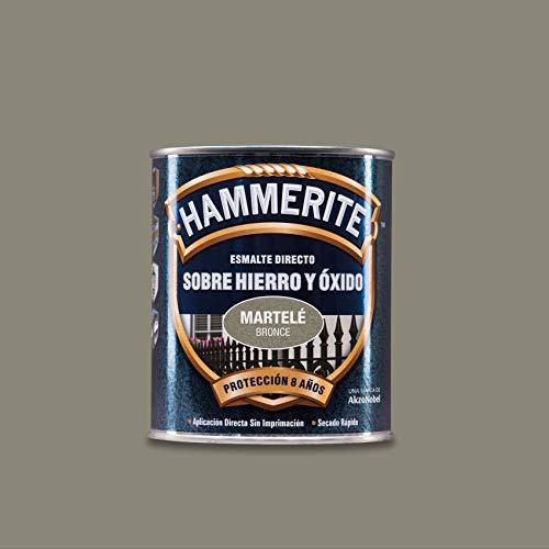 Hammerite Esmalte directo sobre hierro y óxido Martelé Bronce 750 ml