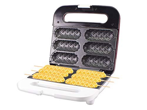 Beper P101CUD100 Piastra per Waffle a stecco, 850 W, ABS, Rosso