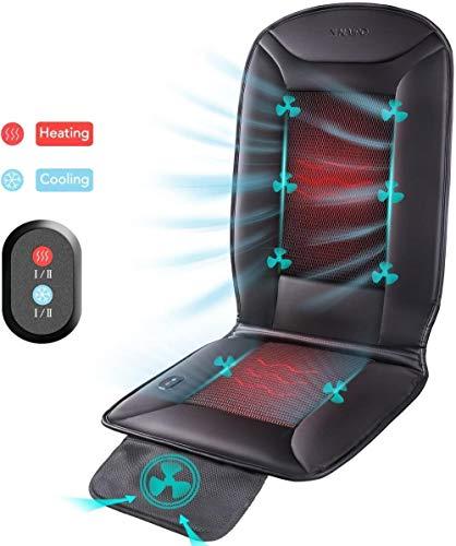 Auto-Sitzkissen Rückseitemassager-Abdeckung Warmer Cooler Pad Schutz Electric mit Breathable 3D Ventilated Holes Schmerzen lindern Entspannung for Auto Stuhl Home Office