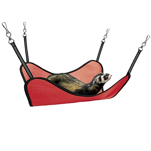 Sharples-n-Grant Deluxe Double Fleece Hang n Hammock Ferrets, Rats, Sugar Gliders, Chinchillas (Red)