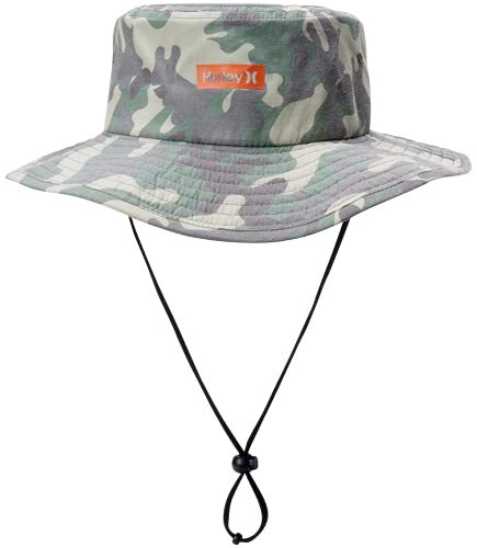 Hurley Men's Vagabond Bucket Sun Hat, Camo Green, S-M