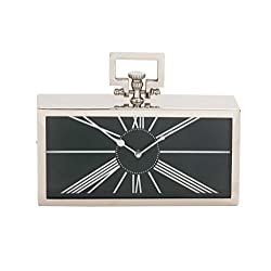 Deco 79 Metal Table Clock, 12-Inch by 9-Inch
