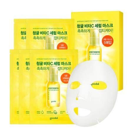 クリオ(Clio Cosmetics)『グーダル(Goodal)チョンギュル ビタC汚れセラムシートマスク (Green Tangerine Vita C Dark Spot Serum Sheet mask)』