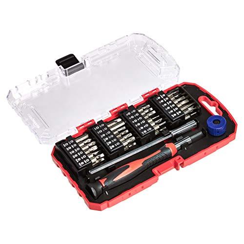 AmazonBasics Juego de destornillador y puntas de precisión, 51 piezas