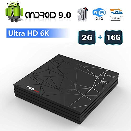 Android 9.0 TV Box, Smart T95 Max Lettore Multimediale Box 2GB RAM...