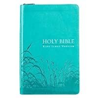 KJV Standard Size Thumb Index Edition: Zippered Turquoise
