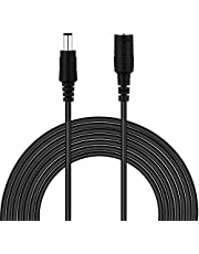 Dericam 20ft Power Extension Cable, 2.1mm x 5.5mm for DC 12V Power Adapter, for CCTV Security Camera/IP Camra/DVR Standalone/LED Strip, 12V-6M, White