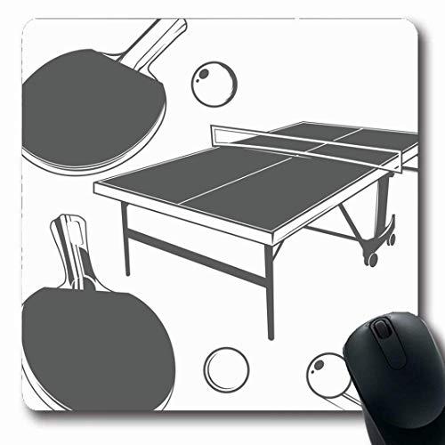 Mouse Pad Fitness Tisch Tischtennis Monochrom Vintage Sportball Tennis Action Aktivität Mousepad Gummi Desktops 25X30Cm Langlebige Computer Maus Matte Mauspads Personalisierte Ged