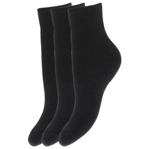 Floso® Kinder Winter Thermo Socken (3-er Pack) (31-36 EU) (Schwarz)