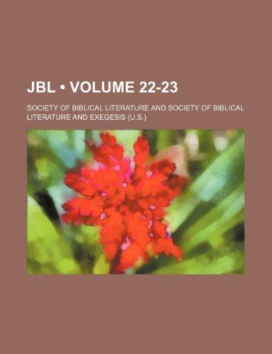 Jbl (Volume 22-23 )