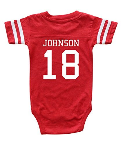 Custom Football Sport Jersey Baby Bodysuit Personalized with Name and Number (3-6M (6M), Vintage Red)