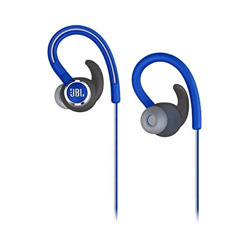 Fone de Ouvido JBL Reflect Mini 2 Bluetooth Azul Esportivo Sem Fio Cabo Refletivo À Prova de Suor