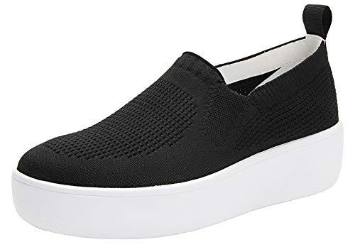 Alegria TRAQ Qaravan Womens Smart Walking Shoe Black Top 9.5-10 M US