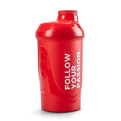 Prozis Mezclador  Follow Your Passion 600 ml - Rojo 100% Polipropileno, color rojo, resistente, aumentar tu autoestima en los días más exitosos y levantarte el ánimo en los momentos más difíciles