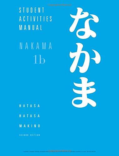 Student Activities Manual for Hatasa/Hatasa/Makino's...