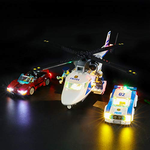 iCUANUTY Kit de Iluminación LED para Lego 60138, Kit de Luces Compatible con Lego City Police - Persecución por la Autopista (No Incluye Modelo Lego)