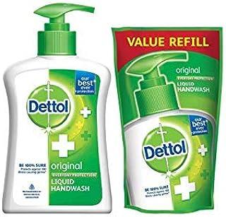 Dettol Liquid Handwash Refill, Original - 750ml + Liquid Handwash Pump, Original - 200ml