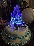 Castillo cake topper iluminado y personalizado de metacrilato para todo estilo de eventos