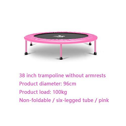 JPVGIA Indoor-Trampolin Klappzunahme Prellen Bett Gewichtsverlust Trampolin Turnhalle Familie Erwachsene Kinder Trampolin (Color : Pink)