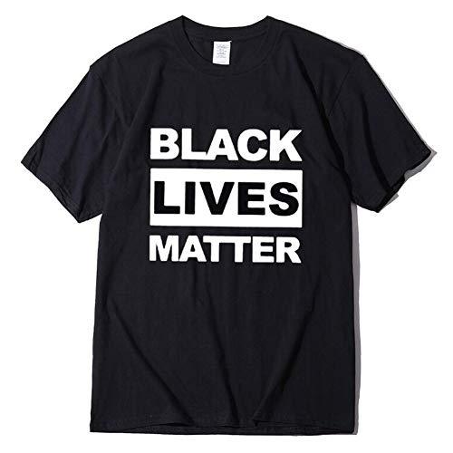 XW Vidas Negro Importan Calle Camiseta, Top De Algodón, Camisa De Manga Corta De Verano para Hombres Y Mujeres,Negro,XXXL