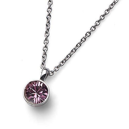 Oliver Weber   Anhänger UNO rhodiniert Antique pink   Damen   veredelt mit Kristallen von Swarovski®   Designed in Austria   11740 920