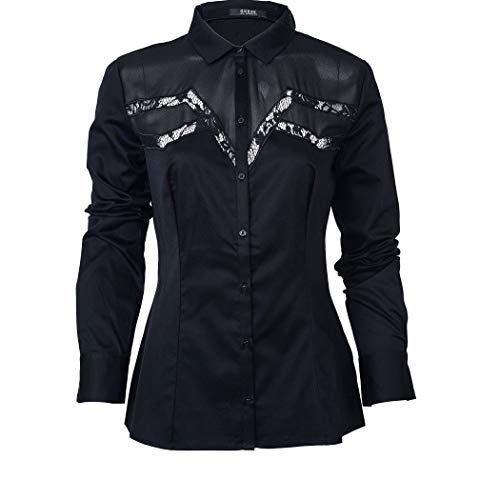 Guess - Camisa de mujer Aire Negro L