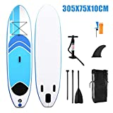 Geteah Inflatable Stand Up Paddle Board Sup Surfboard with Surfboard, Paddle Board, Backpack,Repair Kit