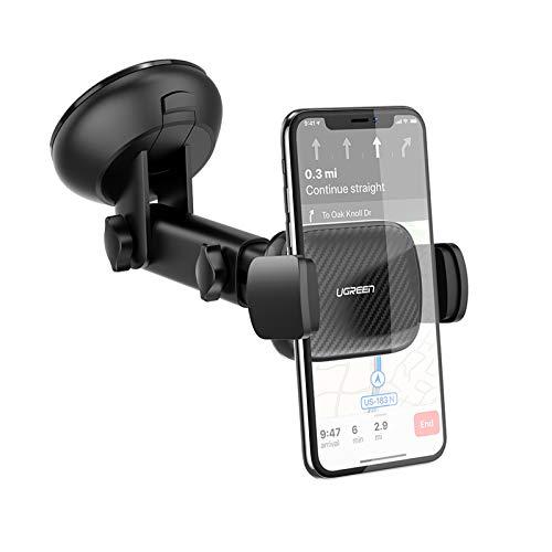 UGREEN Autohalterung Saugnapf Schwerkraft Handyhalterung Auto Halter Kfz Handy Halterung Armaturenbrett Windschutzscheibe unterstützt für iPhone 11 Pro Max X XR, Galaxy S10, M30S, Huawei P30 usw.